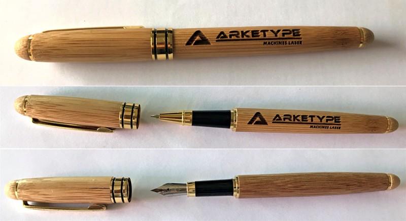 stylo bois graver